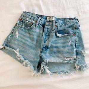 AgoldE denim shorts size 24 gently used